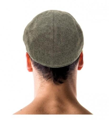 Men/'s Winter 100/% Wool Duckbills Warm Solid Ivy Driver Cabby Cap Hat