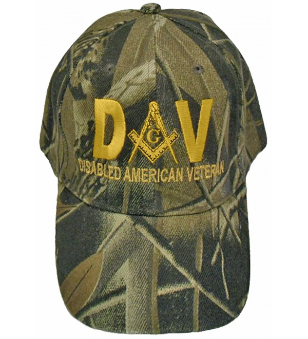 Mason Hat Disabled American Veteran DAV Masonic Freemason Cap Mens - Camouflage - CL12CIXH7L3