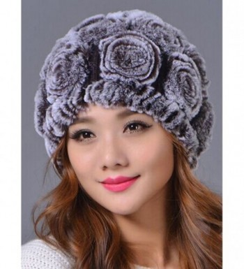 ed559aefce29f4 ... LITHER Genuine Rabbit Knitted Beanie in Women's Skullies & Beanies