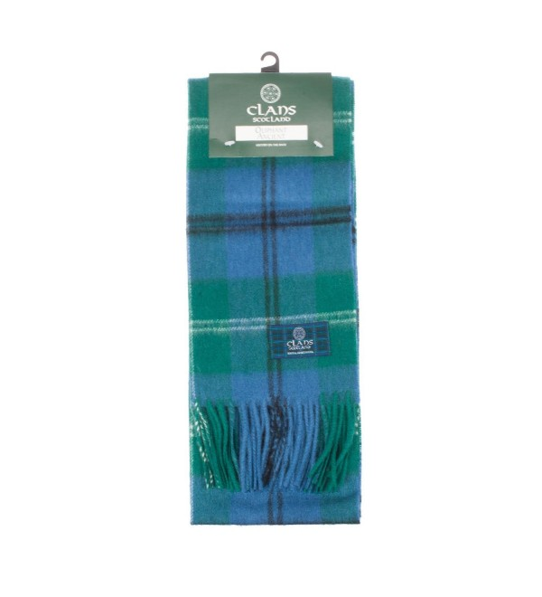Clans Of Scotland Pure New Wool Scottish Tartan Scarf Oliphant Ancient (One Size) - C3123H49WYH