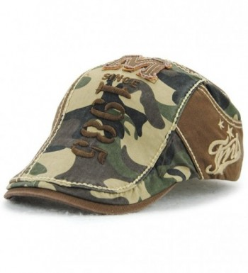 FayTop Men's Cotton Cap newsboy Hat IVY Irish Cabbie Scally Cap Cabbie Driving Flat Caps Hats E91-US - E91-coffee - CL185X7A0H8