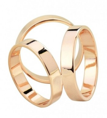 Maikun Scarf Ring Modern Simple Design Triple-ring Scarf Ring Gift for Valentine's Day - Triple Gold-Tone - CB11P0O6L33