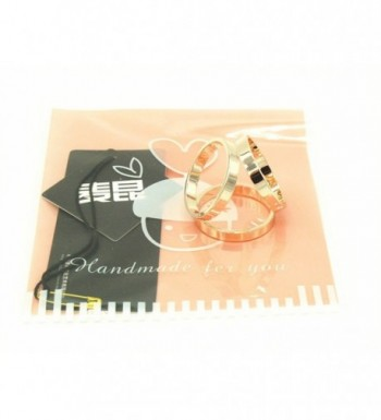 Maikun Modern Triple ring Golden Tone Valentines