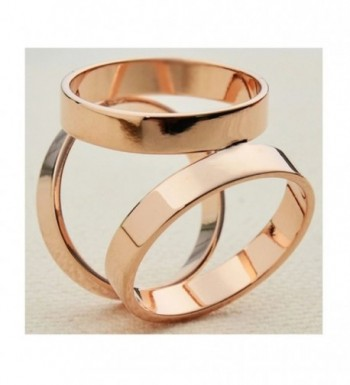 Maikun Modern Triple ring Golden Tone Valentines in Fashion Scarves