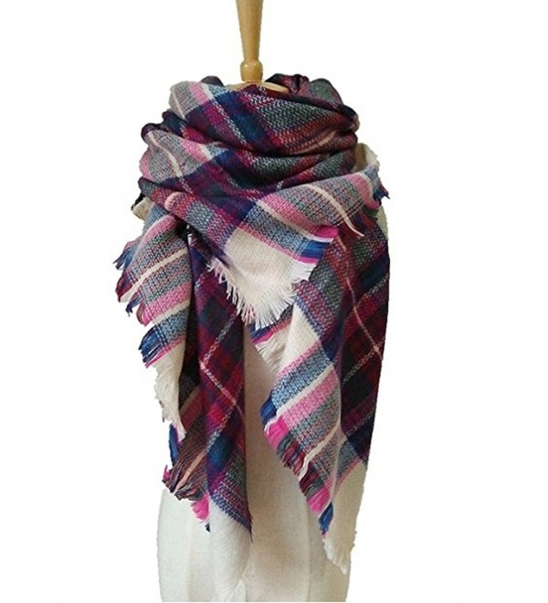 JOYEBUY Women's Warm Stylish Tassels Soft Plaid Tartan Scarf Large Blanket Wrap Shawl Valentine's Gift - Style 5 - CQ1856DNXIX