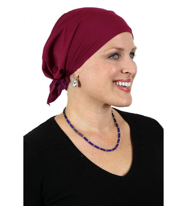 Celeste Scarves Cancer Headwear BURGUNDY - Burgundy - CV12N45IMRN