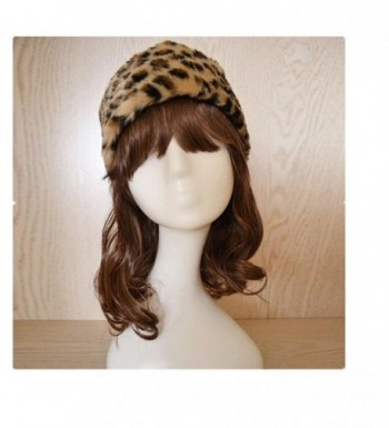 Tuscom Women Faux Fur Beanie Warm Winter Keep Warm Hat Gloves Pocket - Yellow - CE12O9X85UX
