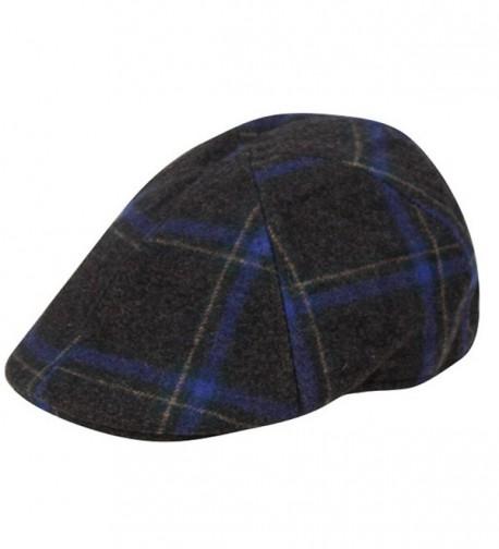 EPOCH Irish Wool duckbill IVY Flat Cap For Men newsboy Gatsby Driver Caps Hat - Charcoal - CK12O7G5W1L