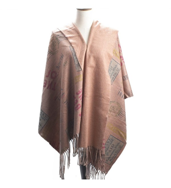 "Women Large Soft Pashmina Shawls Wraps Scarf Long Cover Up Scarves 75""x26"" - Reddish Brown - CI189HMT0OU"