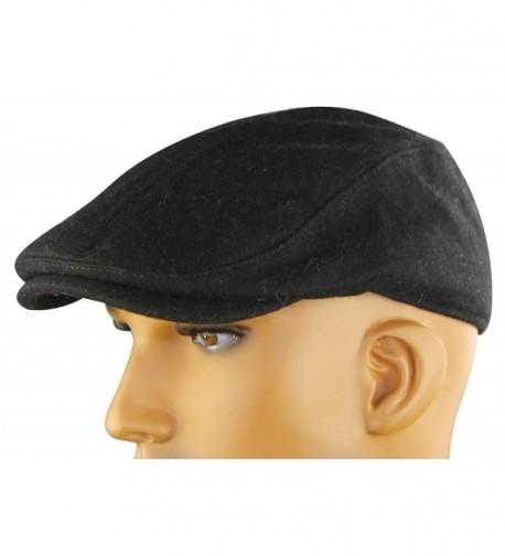 MINAKOLIFE Mens Womens Soft Wool Newsboy Hat Flat Cap Ivy Stretch Driver Hunting Hat - Black - CY123E9O4EX