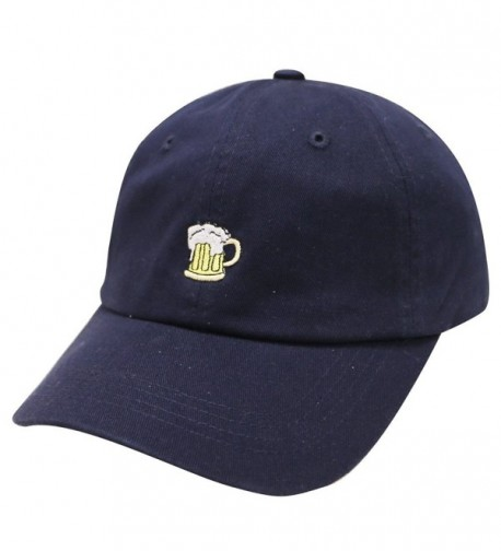 City Hunter C104 Small Beer Embroidery Cotton Baseball Cap 13 Colors - Navy - C112HV0PGN9