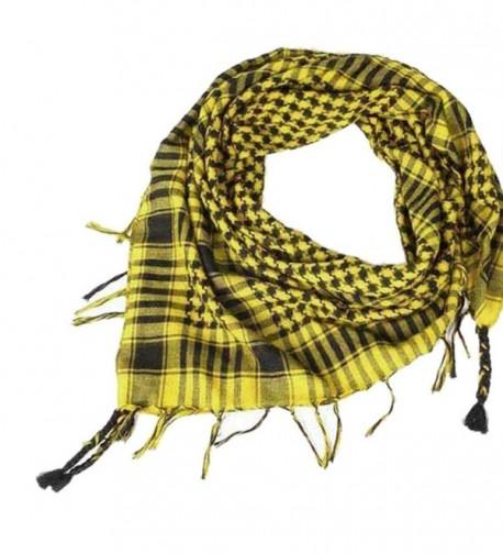 Wenjuan 1PC Unisex Fashion Women Men Arab Shemagh Keffiyeh Palestine Scarf Shawl Wrap - Yellow - CB186R0HCMK