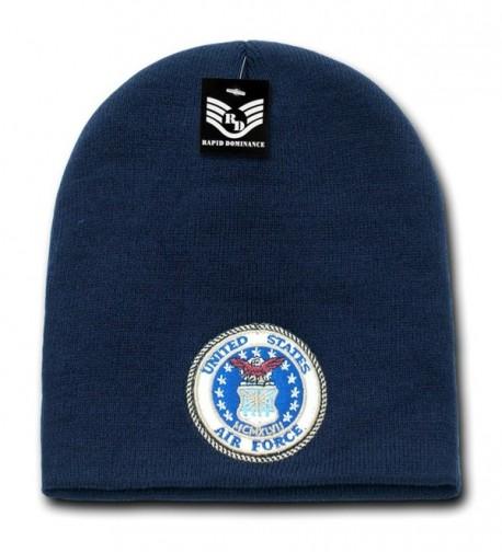Military Logo Classic Work Short Winter Beanie Skull Caps S90 - Air Force Logo - C111L9KE49Z