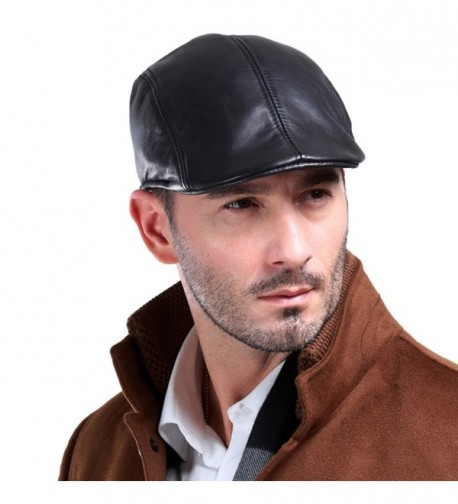 Vemolla Leather Fashion newsboy Cabbie