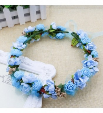 SZCXTOP Headband Bridesmaid Festivals Photography - Blue - CI184EZD4XH