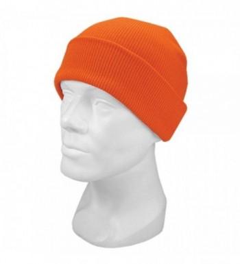 Hot Shot Men's Acrylic Cuff Cap Knit Hat- Blaze Orange- One Size - CK111IAZAT7