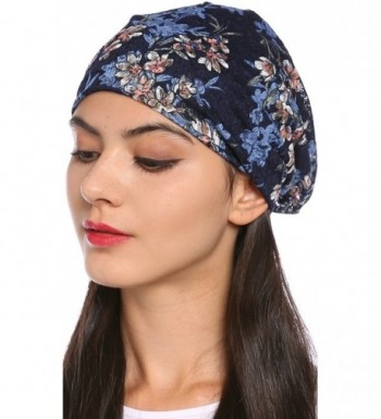 Ababalaya Womens Elegant Nightcap Sapphire in Women's Skullies & Beanies