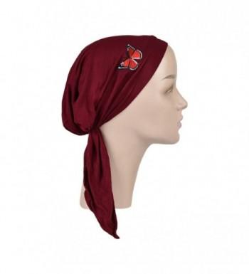Burgundy Chemo Scarf Bandana Headwear