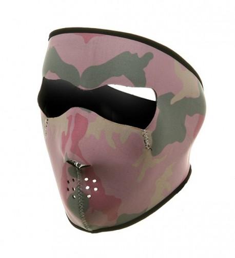 Neoprene Full Face Mask-Pink Camo W11S23D - CY111XOW651