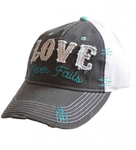 Love Never Fails Cherished Girl Christian Hat - CF17Y2CEUQA