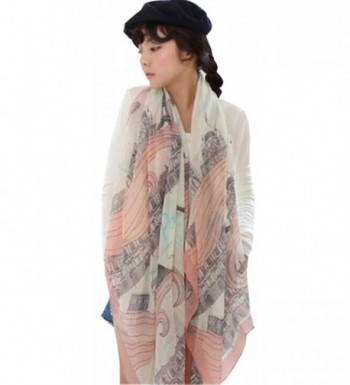 UGET Womens Eiffel Printed Scarves in Fashion Scarves