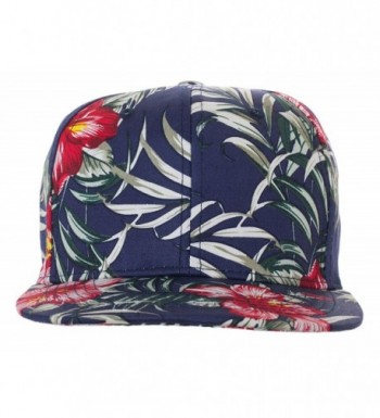 Artisan Owl Floral Pattern Snapback Baseball Caps - Available In Multiple Colors! - Blue With Floral Red - CF1824TWCMW