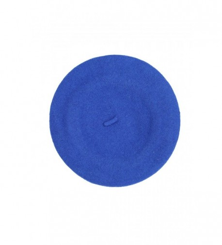 Classic Wool Warm Thick Fashion French Beret - Royal Blue - CP116WFNQN7