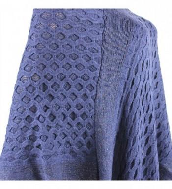 Streak Brilliance Crocheted Poncho V neck in Wraps & Pashminas