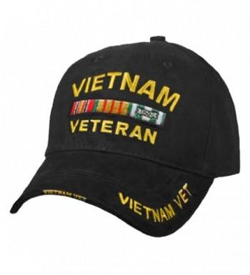 VIETNAM VETERAN Baseball Cap Military Vet Mens Black Hat - CY12O3PF8FD