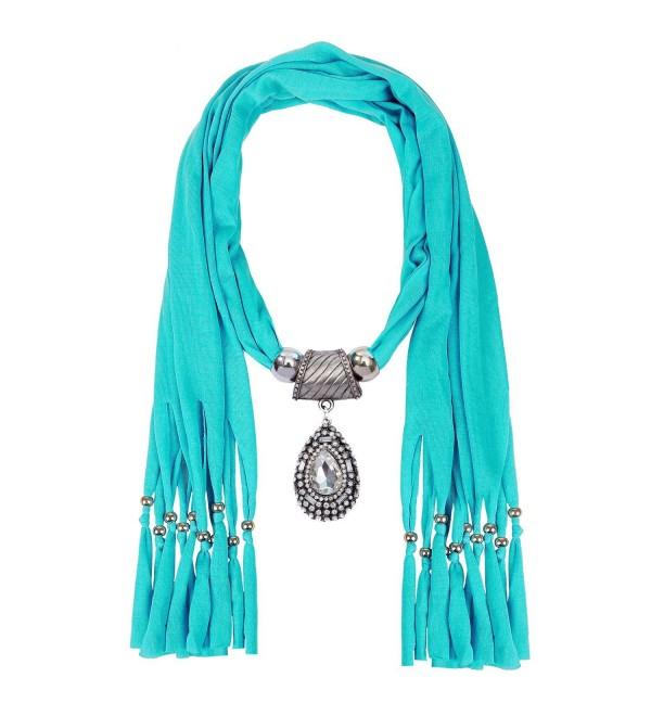 LERDU Teardrop Turquoise Necklace Infinity - Turquoise - CM12NZQV2IS