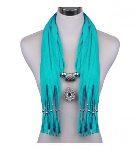 LERDU Teardrop Turquoise Necklace Infinity