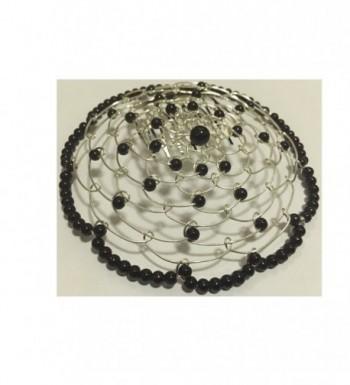 Elegant Dressy Beaded Wire Kippah for Women - Black - C9128K98213