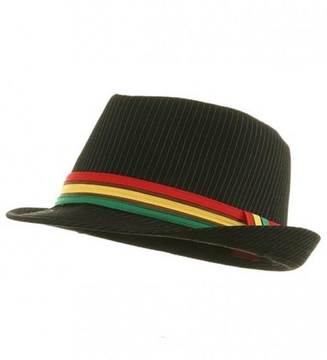 Rasta Fedora Hat - Black Pinstripe W19S46D - C3114F3AH6L