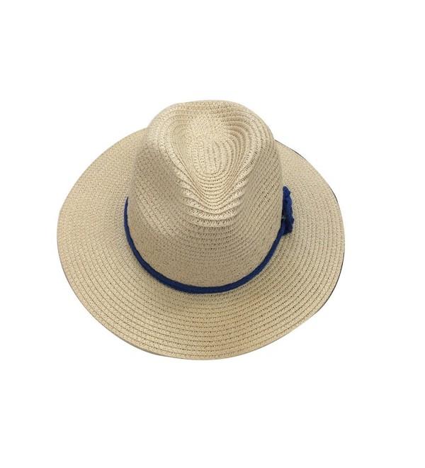 JTC Fedora Hat Sun Cap Short Brim Visor Photography Prop Outfit - Beige - CC11KF1GB6N