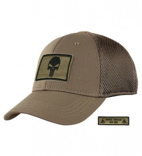 Condor Mesh Fitted Tactical Cap Bundle (Punisher/DTOM Patches) - Coyote - C1185Z3QGLE