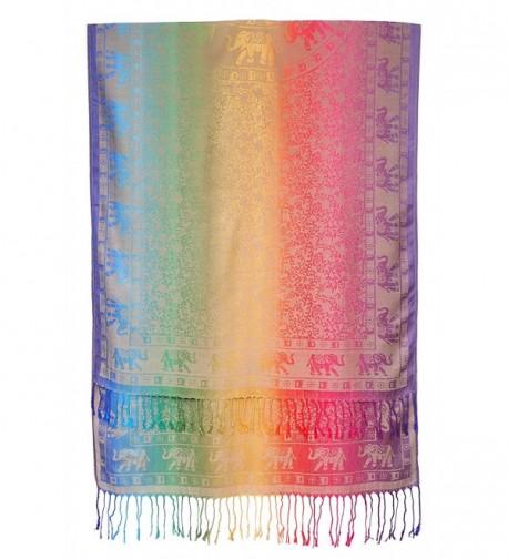 Bijoux Ja Elephant Rainbow Pashmina in Fashion Scarves