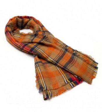 QIXING Tartan Blanket Scarves Fashion in Cold Weather Scarves & Wraps