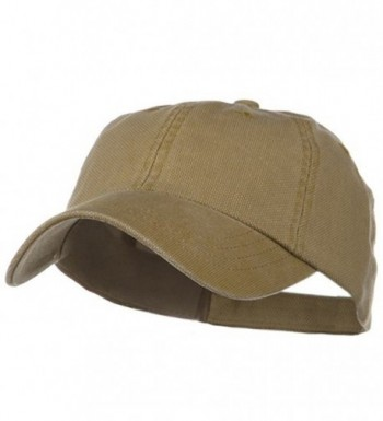 Pigment Dyed Heavy Cotton Oxford Cap - Camel - C71153M7Q4P