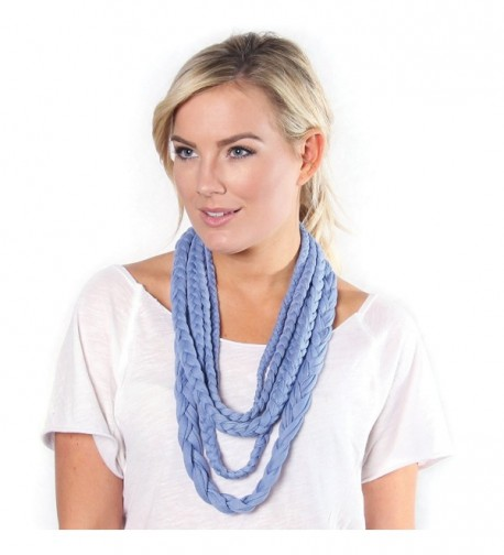 BANDED- Layers Inifinity Scarf Wrap - Periwinkle - CG12E04OZJ5