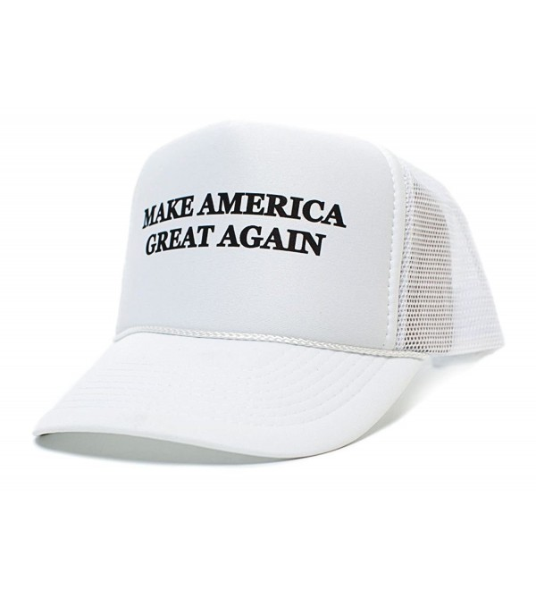 Make America Great Again Trump 2016 Unisex-Adult One size Hat White/White - White - C2123K8M8VT