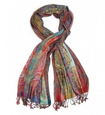 Bohomonde Jivala Scarf- Woven Reversible Striped Pashmina Scarf- hand made in India - Festival - CA11QJ3MYBH