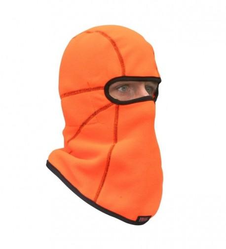 Heat Factory Deluxe Fleece Balaclava Face Mask with 5 Hand Heat Warmer Pockets - Blaze Orange - CZ1150IWZIT