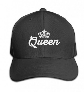 Mens Fitted Hats Queen Lovers Couple Adjustable Cool Snapback - Black - CY12MXZBA2I