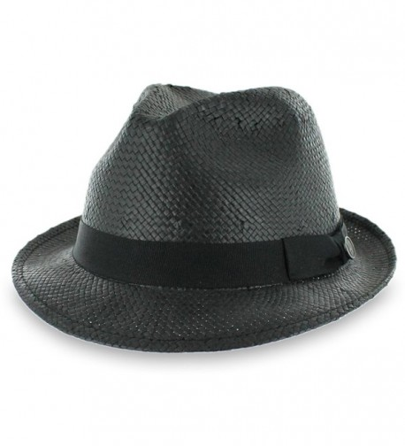 Hats in the Belfry Belfry Straw Goon - Open-Weave Fedora - CT11ZZVL7RL