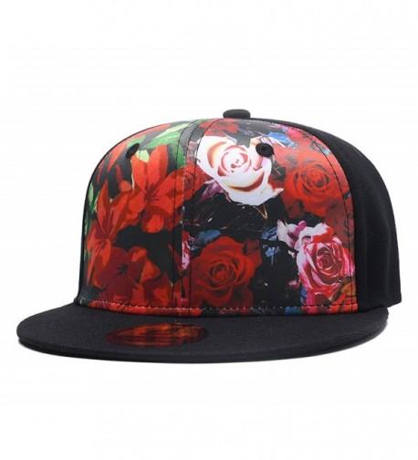 Quanhaigou Floral Baseball Premium Snapback - Red Floral - CT186O7HL8S