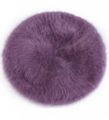 Winter Beanie Protective Angora Purple