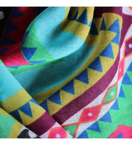 ADJOINT Colorful Printed Bohemian multicolor in Fashion Scarves