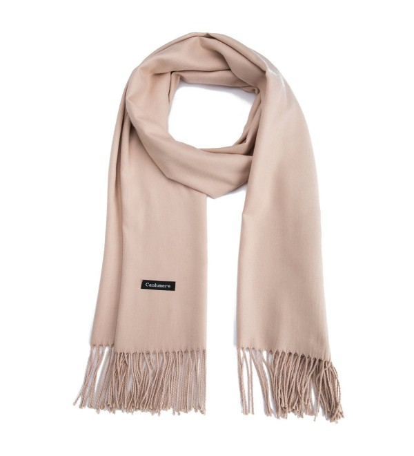 01f1cdb5d0e Premium Large Cashmere Scarf Pashima Shawls And Wraps for Women in Fall &  Winter Khaki CE1888HA2ZE