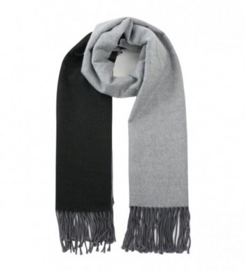 Women's Warm Fashion Contrast Scarf - Stylish Baby Alpaca Scarf - Gray - CV187DH8D8A