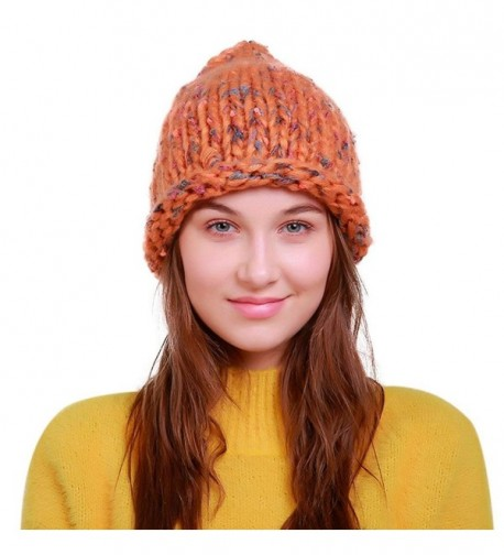 Hunputa Unisex Winter Trendy Slouchy - Orange - CF18992D49M
